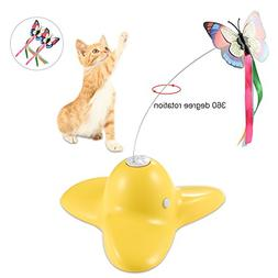 Petacc Interesting Electric Rotating Butterfly Cat Toy Flutt