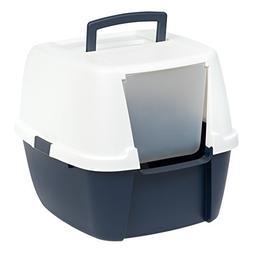 IRIS Jumbo Hooded Litter Box with Scoop, Navy