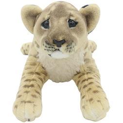TAGLN The Jungle Animals Lifelike Lion Stuffed Plush Realist