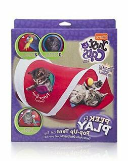 Hartz Just for Cats Peek & Play Pop-Up Cat Tent Toy