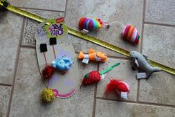 Hartz Just for Cats Cat Kitten Toys lot of 9 wand dangles mo