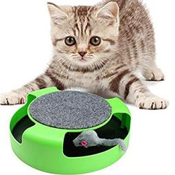 Resulzon Kitten Cat Games Toy With Fun Catching Rotating Spi