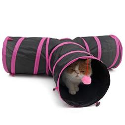 Kitten Cat Pet Rabbit Tunnel Play Collapsible Funny 3 WAY Y