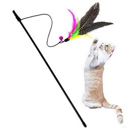 LtrottedJ Kitten Cat Teaser Interactive Toy, Rod with Bell