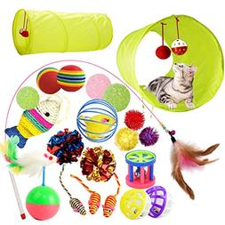 PupMoe Kitten Toys Cat Tunnel Toys Variety Pack Interactive