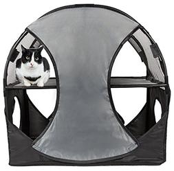 Pet Life Kitty-Play' Collapsible Travel Interactive Kitty Ca
