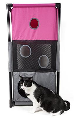 Pet Life Kitty-Square' Collapsible Travel Interactive Kitty