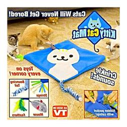 KITTY CAT MAT CRINKLE WITH 4 TOYS & CAT NIP ASOTV YOUR CAT W