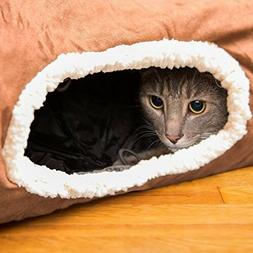 Kitty Cat Tunnel - Interactive Play Cat Tube Toy with Crinkl