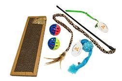 EMG Pet Emporium Kitty Scratcher - Bell Toy Bundle PLUS Cats
