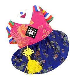SELMAI Korean Traditional Dog Costume Hanbok Holiday Clothes