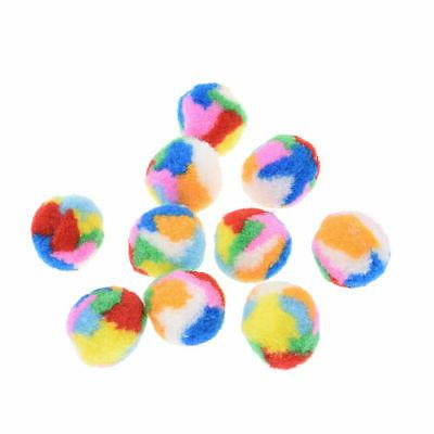 10 Pcs Cat Puppy Toy Balls Plush Soft Colorful Pet Interacti