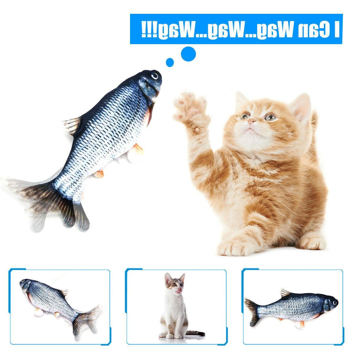 USB Cat Toy Realistic Dancing Wiggle Catnip