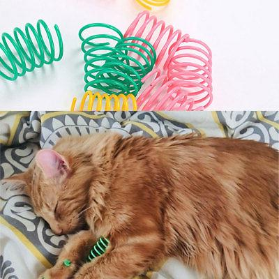 10Pcs Ethical Colorful Plastic Springs Long Spiral Healthy