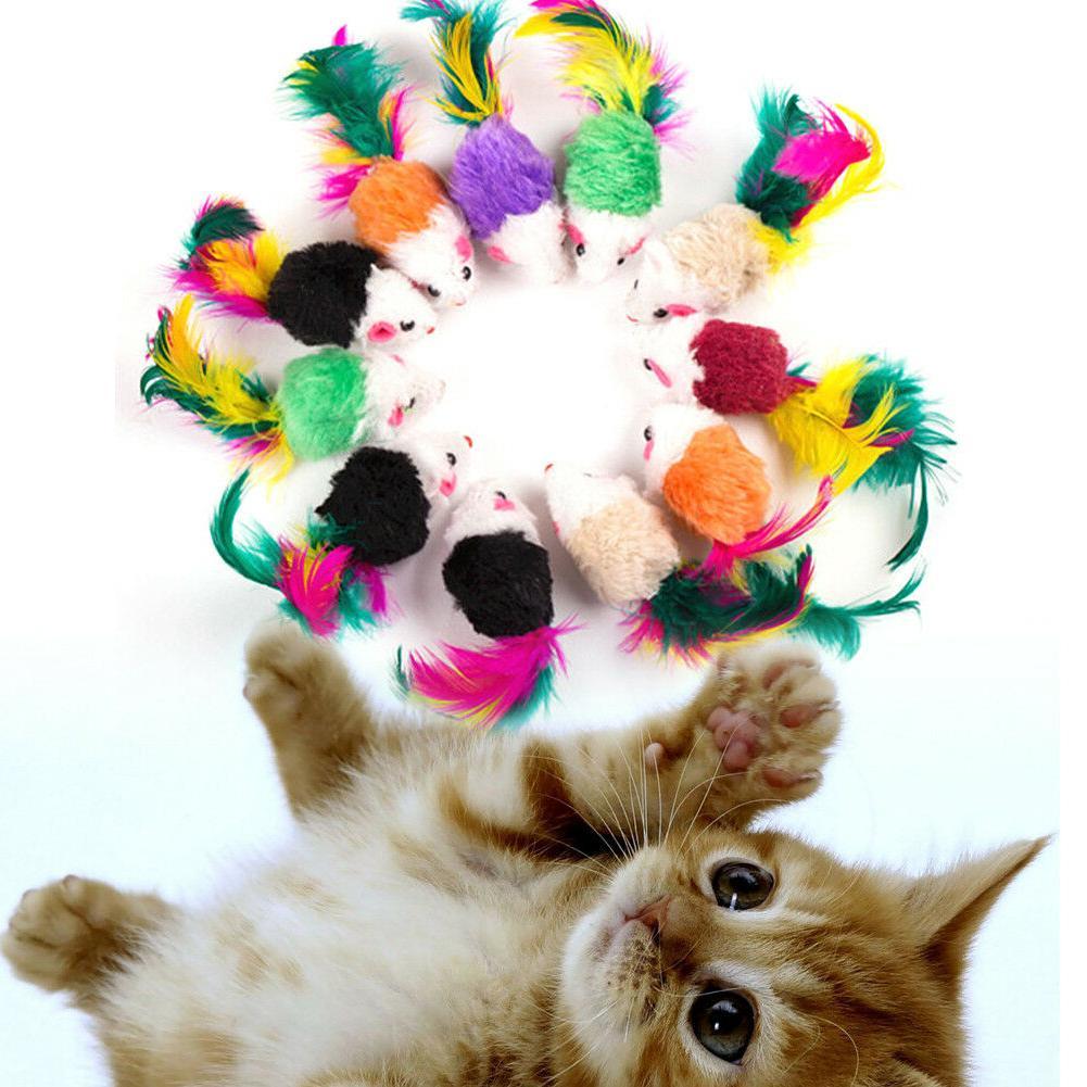 10pcs Pet Cat Toys Funny Toy Colorful