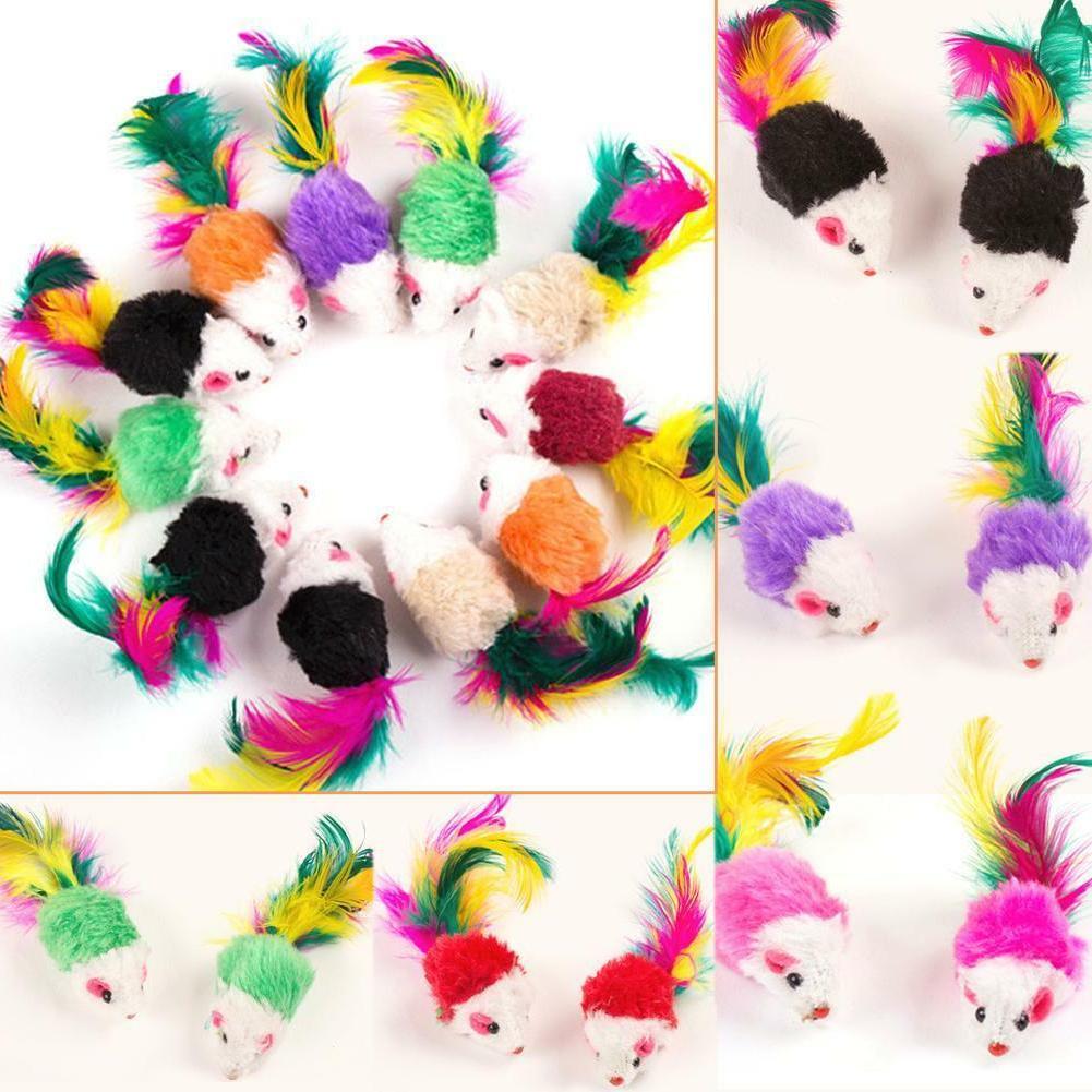10pcs false mouse pet cat toys funny