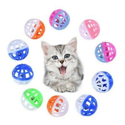 10Pcs Pet Mini Plastic Ball Vocal Fun Ball Toys