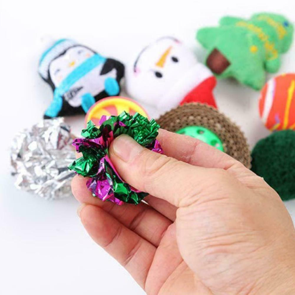 10Pcs Toys Set Balls Catnip Kitten New