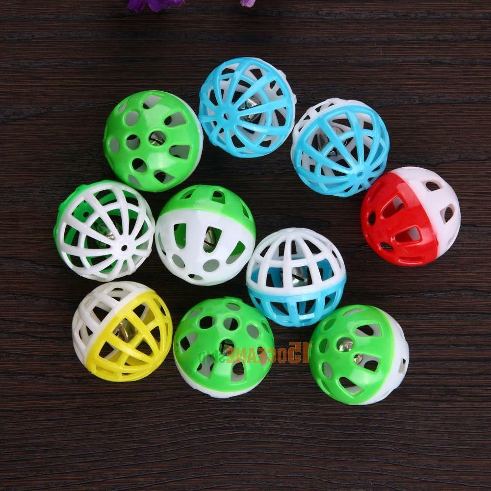 10pcs Out Round Pet Play Ball Bell Pounce