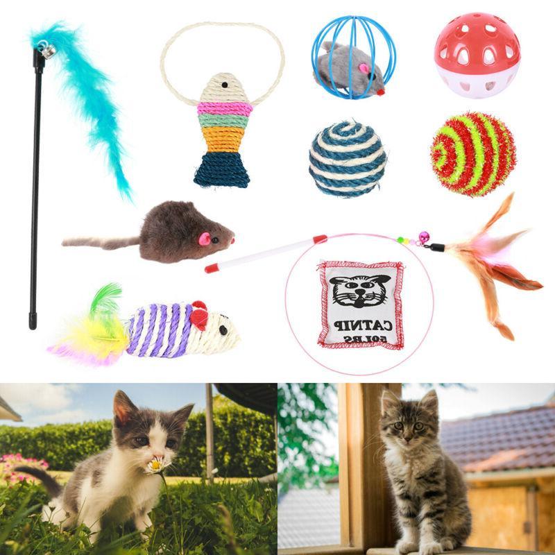 10pcs set pet cat lot bulk mice