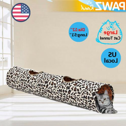 12 dia large pet cat play tunnel