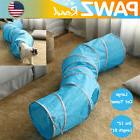 12'' Large Cat Tunnel 4 Holes S Shape Gym Folding Collap