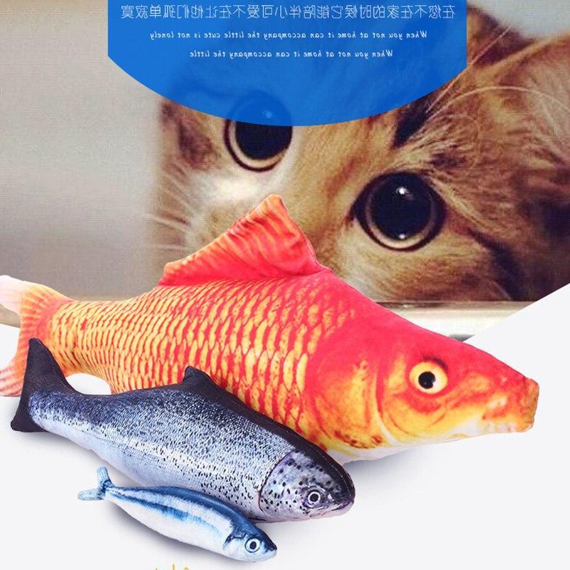 12 3D Artificial <font><b>Cat</b></font> <font><b>Toys</b></font> Fish Plush Pillow <font><b>Cat</b></font> Pillow Sleeping Cushion 1pc