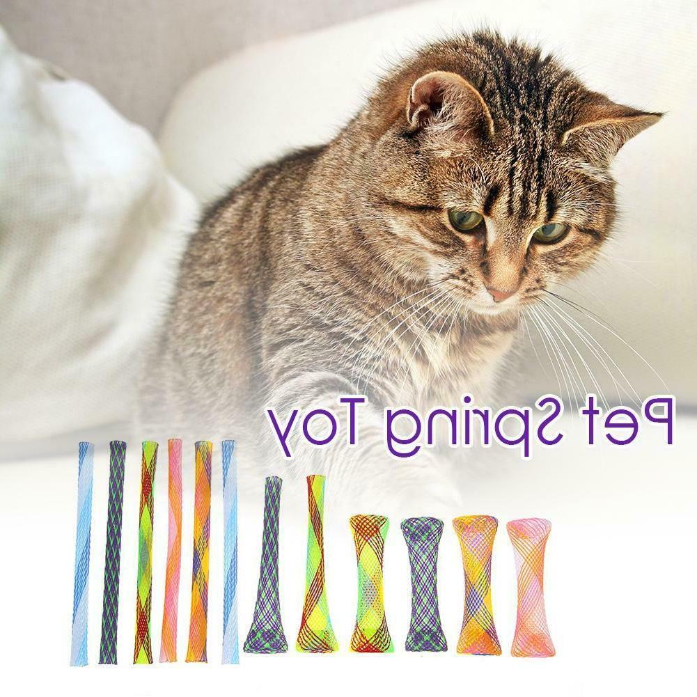 12pcs Flexible Colorful Cat Toys