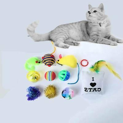 10/14 pcs Pet Toys Mouse Bells Kitten
