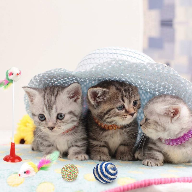 16 LOT Interactive Kitten Ball Teaser Mice