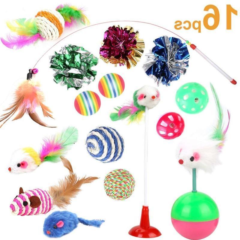 16 pcs lot bulk interactive cat toys