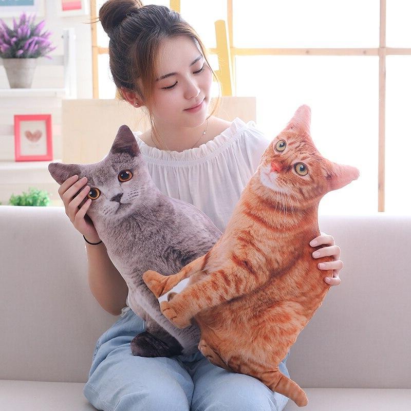 Babiqu 50cm Simulation Plush <font><b>Cat</b></font> Stuffed Cushion Decor for