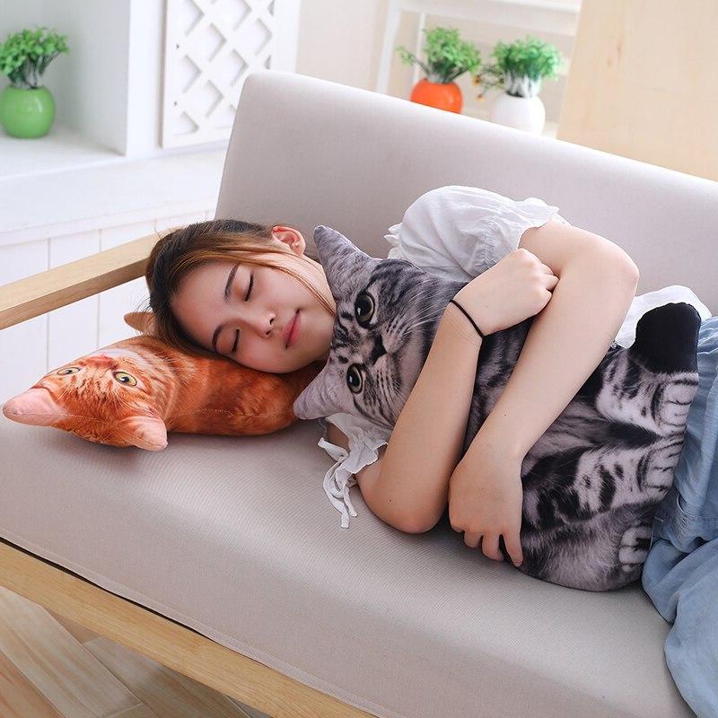 Babiqu Plush <font><b>Cat</b></font> Pillows Stuffed Cushion Decor Cartoon for