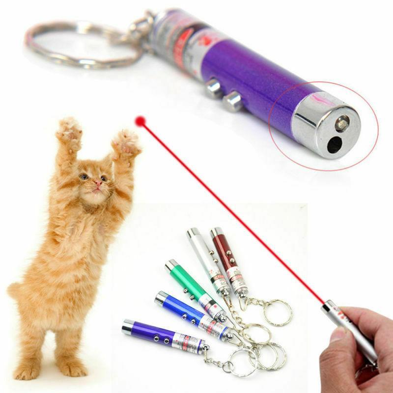 1pc cat pet toys led laser light