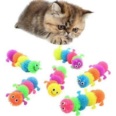 1pc funny cat toy simulation caterpillar rubber