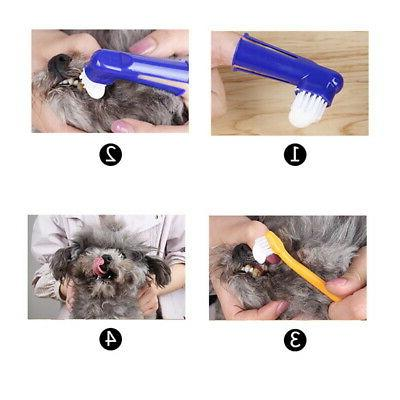 1pc pet toothpaste toothbrush dental health care