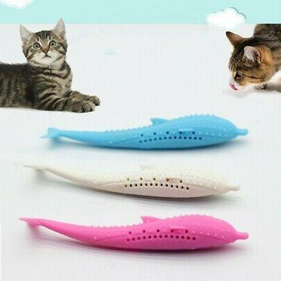 1PCS New Pet Cat Fish Shape Catnip Scratch Toys