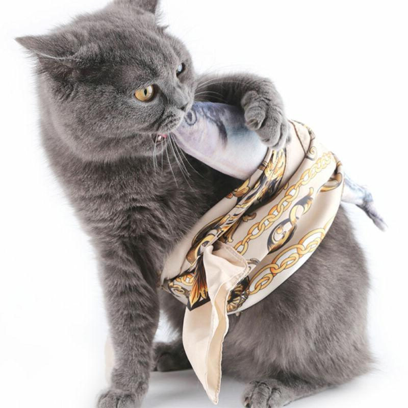 1XArtificial Fish Plush Pet Cat Sleeping Toy Catnip Toys