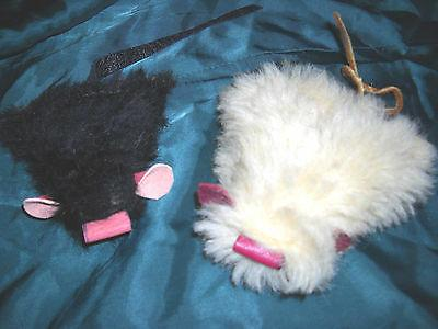 2 handmade usa cat mice mouse toys