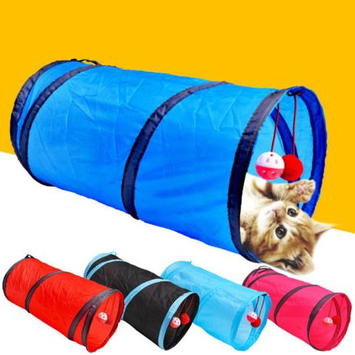 2 holes pet cat play tunnel toys