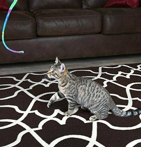 2 PACK Ribbon Toy Cat Rainbow Shipping!