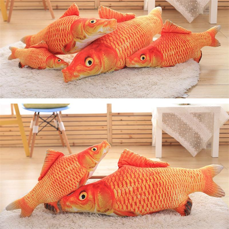 20/30/40/60CM Funny Fishes Cats Pet Toys