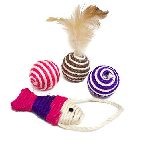 Youngever Kitten Assortments, Way Tunnel, Cat Feather Teaser Wand Feather Fluffy Mouse, Crinkle for Cat, Puppy, Kitty,
