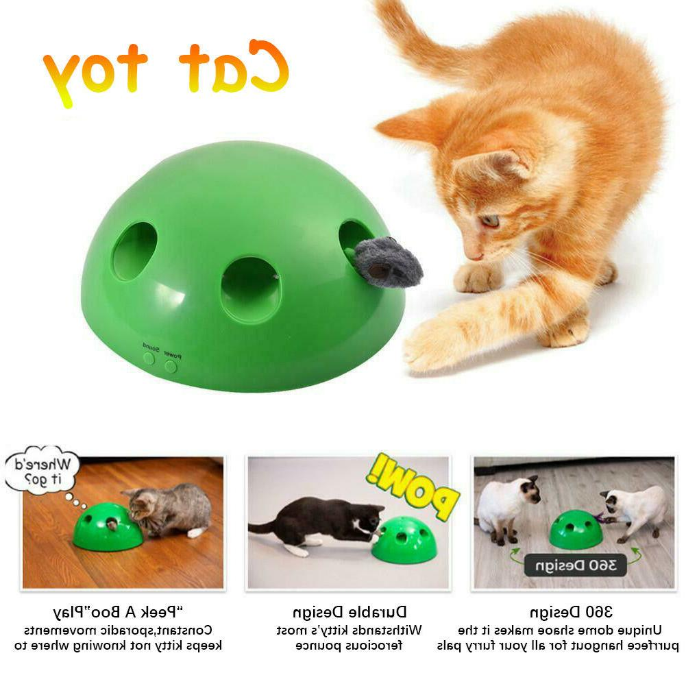2019 Pop Play Interactive Cat Toy Mouse Tease Pet Toys