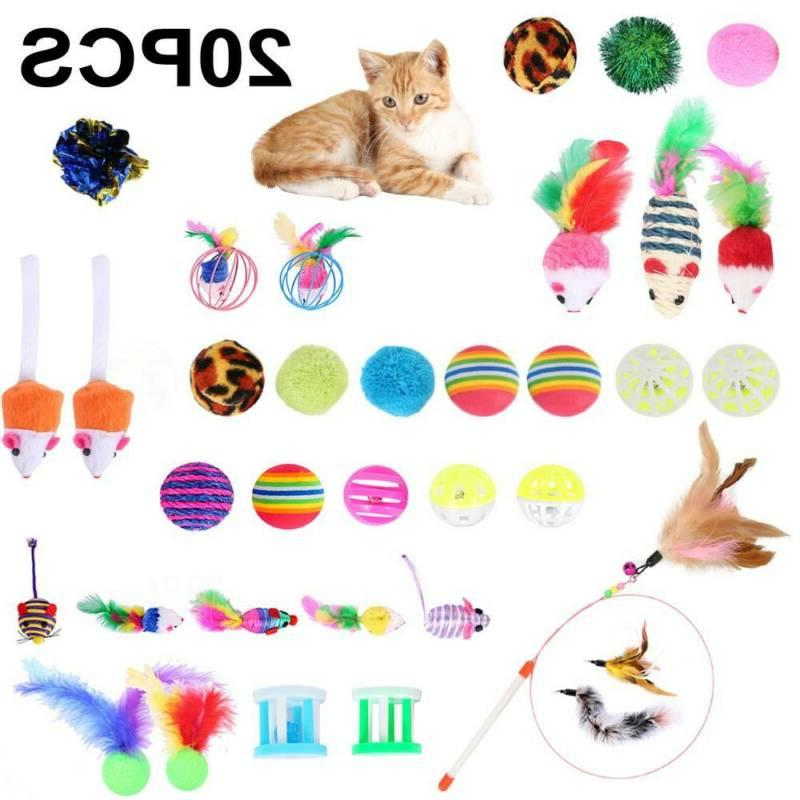 20pcs bulk cat interactive play toys kitten