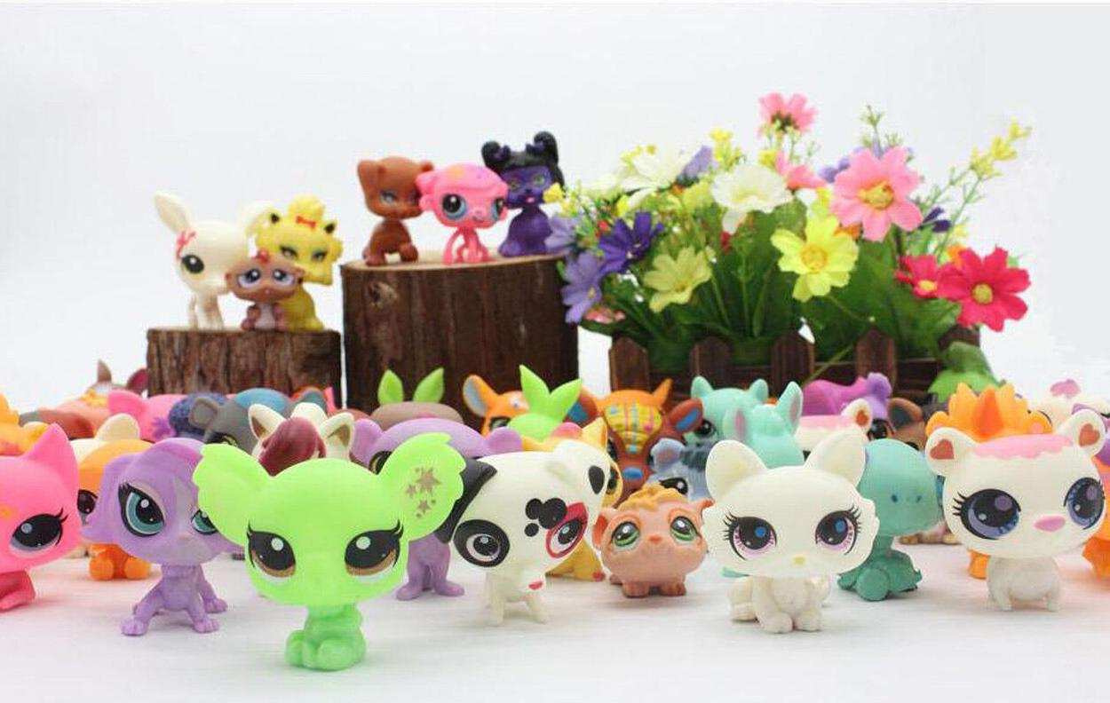 20Pcs/lot CUTE DOLL Model Lps <font><b>Toy</b></font> Animal