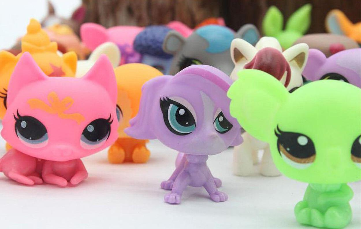 20Pcs/lot CUTE Lps <font><b>Toy</b></font> Bag Pet Shop Animal Patrulla Dog Children