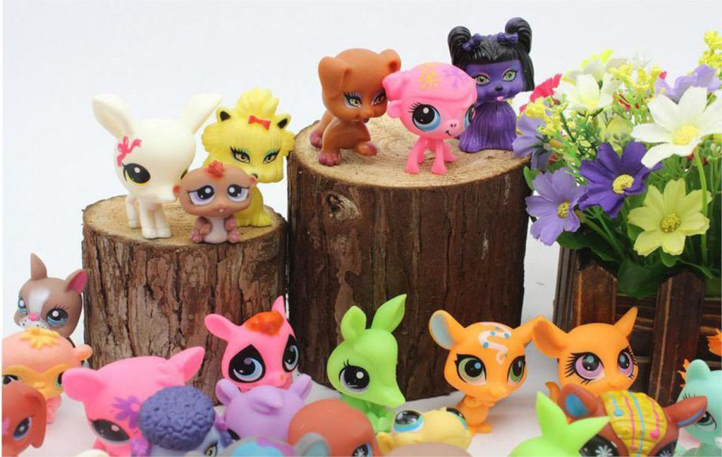 20Pcs/lot CUTE Model Lps Bag Pet Mini <font><b>Toy</b></font> Animal Dog