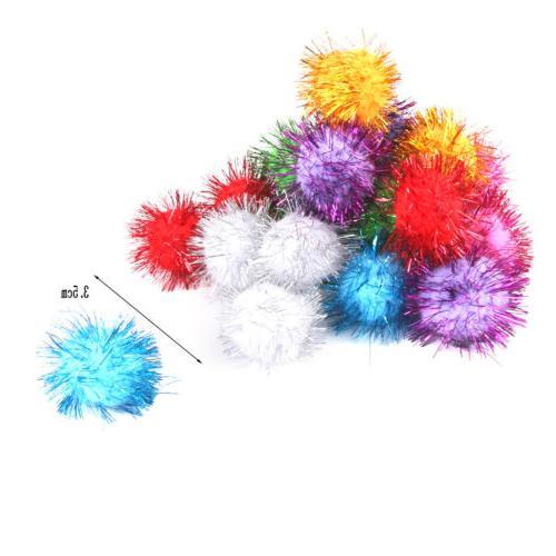 21x Fluffy Pompoms Kids Dog