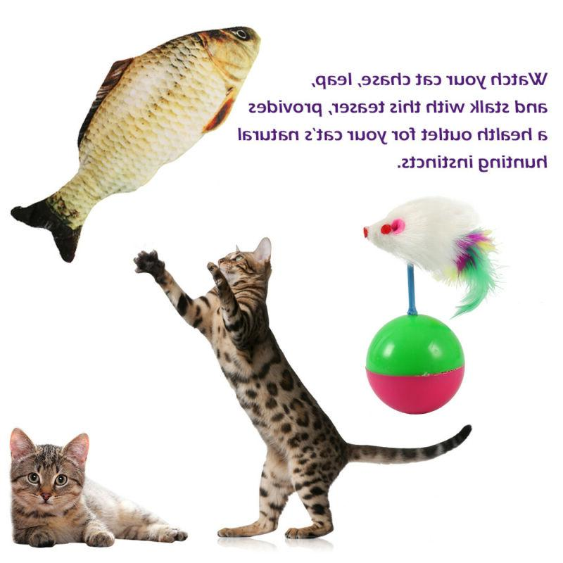 24Pcs Catnip Pet Kitty Play Ball New